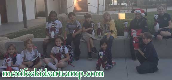 Winter rates school art Penguins Bowling Pin art project crafts in menifee California