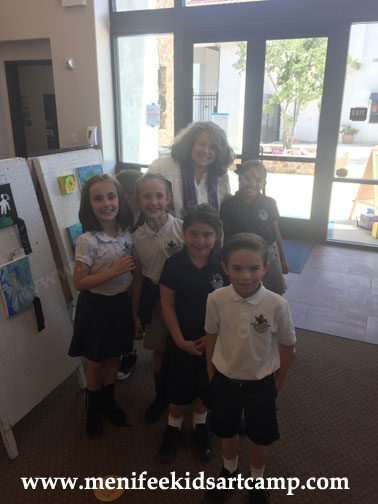 Ines Miller Art Instructor at Santa Rosa Academy Art Exhibit