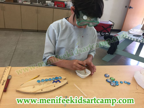 summer camp- mosaic workshop  for children in Menifee California
