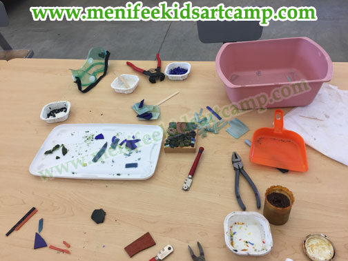 STEAM summer camp- mosaic workshop  for children in Menifee California