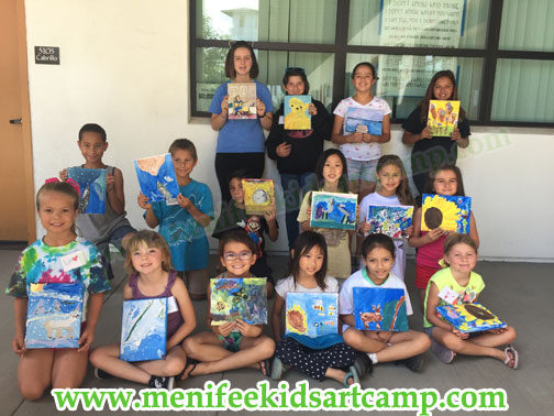 menifee art camp canvas painting art classes in Menifee California by Ines Miller Art Instructor