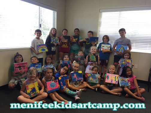 canvas painting art classes painting lessons for kids in Menifee california Summer art camp in Canyon lake