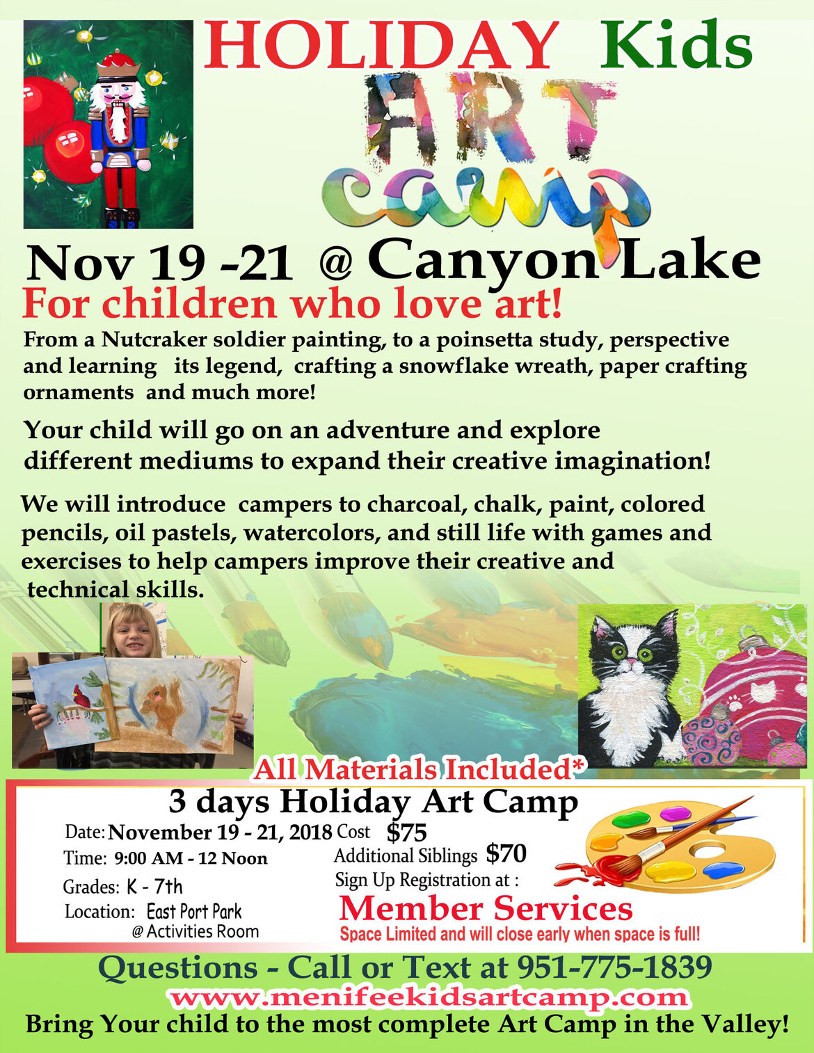 canyon lake art classes for kids by Fine Artist Ines Miller